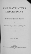 PDF Download of Mayflower Descendant Volume 13 (1911)